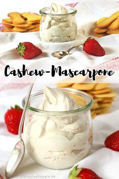 """CASHEW-MASCARPONE: Heute stelle ich euch Cashew-Mascarpone vor, ein Rezept aus dem Buch """"Käse, Joghurt, Tofu, Milch. Vegan und selbstgemacht"""" von Yvonne Hölzl-Singh. Und nicht nur das, … dazu gibt es morgen auch noch ein herrliches Erdbeer-Tiramisu"""