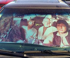 Make the jump to light speed with this Star Wars car sun reflector. It's the perfectly geeky way to protect your Geo Metro Millennium Falcon's interior from...