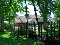 The gorgeous view of our fence enclosing the pool