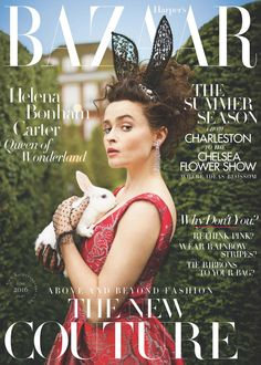 The soon to be 50-year-old talented actress; Helena Bonham Carter is on the cover of Harper's Bazaar UK June 2016 issue and she is looking surprisingly good on it. This is the best look I hav…