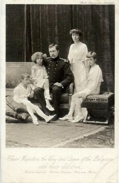 King Albert I of Belgium and his family.