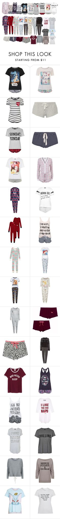 """Pjs"" by rannymarcella ❤ liked on Polyvore featuring Topshop, Accessorize, Eberjey, Wildfox, Rut&Circle, Disney, Hunkemöller, Victoria's Secret, Calvin Klein and DKNY"