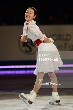 TOKYO, JAPAN - APRIL 14: Mao Asada of Japan performs during day four of the ISU World Team Trophy at Yoyogi National Gymnasium on April 14, 2013 in Tokyo, Japan.