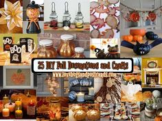 View this list of 25 DIY Fall Decorations and Crafts and Halloween Recipes!