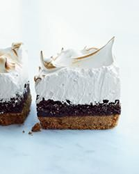 S'mores Bars with Marshmallow Meringue   These crazy-delicious bars from Cheryl and Griffith Day feature a salty, crunchy graham cracker crust topped with a rich chocolate filling and fluffy, light, marshmallowy meringue.