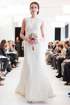 oscar de la renta crochet wedding dresses - Buscar con Google