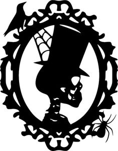 Skeleton Tophat Portriat Halloween Vinyl Decal Vinyl Decal