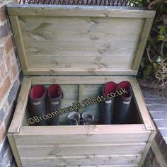 16mm Thick Tanalised Timber wood boot box chest wellies salt parcel storage