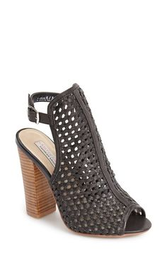 Kristin Cavallari 'Largo' Woven Leather Open Back Sandal (Women) | Nordstrom