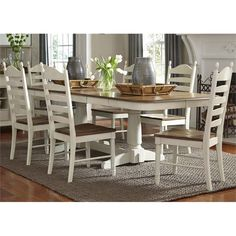 Lowest price online on all Liberty Furniture Springfield 7 Piece Double Pedestal Dining Set - 278-CD-72PS