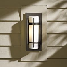 12 Inch Banded Aluminum Outdoor Wall Sconce