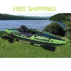 Inflatable Kayak Inflatable Kayaks Boat Oar Paddle Hand Pump River Lake Fishing…