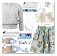 """""""Cute Spring Cardis"""" by dolly-valkyrie ❤ liked on Polyvore featuring Allude, RED Valentino, H&M, Dogma, cutecardigan and springlayers"""