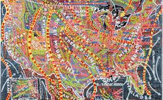 Find the latest shows, biography, and artworks for sale by Paula Scher. Paula Scher has been at the forefront of American design over the past three decades. Paula Scher, Tiffany E Co, Us Geography, Map Painting, Design Fields, Wallpaper Magazine, Map Design, Graphic Design, Artist Gallery