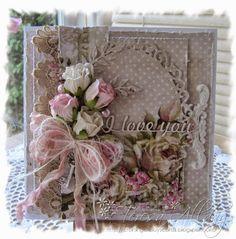 61 Ideas For Vintage Wedding Cards Handmade Shabby Chic Beautiful Vintage Wedding Cards, Wedding Cards Handmade, Beautiful Handmade Cards, Greeting Cards Handmade, Vintage Cards, Pretty Cards, Cute Cards, Mixed Media Cards, Shabby Chic Cards