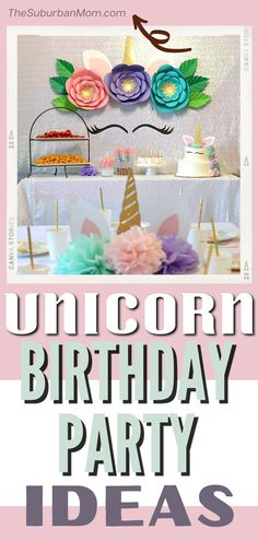 Unicorn is one of the best theme for your little girl's birthday. You can customize and DIY everything from decorations, cake, food, invitation, games, backdrop. Everything is in pastel, it'smagic! It's just never ending ideas! It's not just fun for the birthday girl and the guests, but also to the one planning the party. #freeprintables #unicorn #party #unicornpartyfood #unicorncake #unicornpartyfavors #unicornpartyideas #girlbirthdaythemes, #girlbirthdaypartyideas #baby Girl Birthday Themes, Little Girl Birthday, Unicorn Birthday Parties, Unicorn Party, First Birthday Parties, Birthday Party Decorations, First Birthdays, American Girl Birthday, Cool Themes