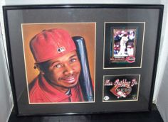 I'm selling KEN GRIFFEY JR. 2001 L'TD EDITION COLLECTIBLE FINE ART PRINT FRAMED PICTURE REDS - $16.99 #onselz