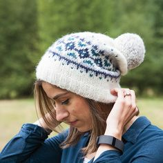 free colorwork hat pattern - Glacier Peak Hat from knitpicks.com