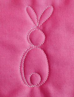 Free-motion quilting bunny tutorial