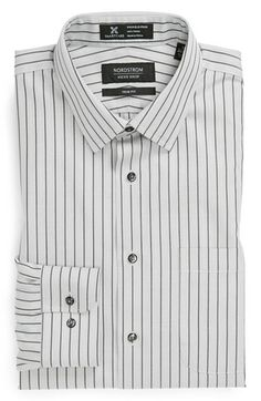 Nordstrom Smartcare™ Trim Fit Stripe Non-Iron Dress Shirt available at #Nordstrom