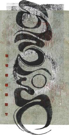 Anchored monotype by Anne Moore