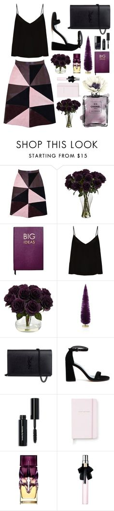 """PLUM"" by ismidilianda on Polyvore featuring Florence Bridge, Sloane Stationery, Raey, Chanel, Bloomingdale's, Yves Saint Laurent, Stuart Weitzman, Bobbi Brown Cosmetics, Kate Spade and Christian Louboutin"