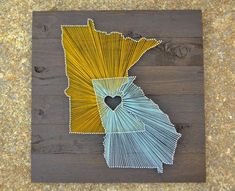 Wood Art, State Art, string Art. would be cute if we combined colorado with utah with the heart over vernal...