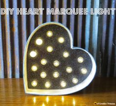 DIY heart marquee