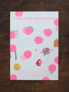 cake for breakfast Cd Design, Design Girl, Graphic Design Art, Book Design, Print Design, Dm Poster, Poster Layout, Exhibition Poster, Japanese Prints