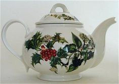 Portmeirion Holly and Ivy teapot