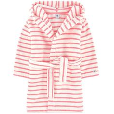 Petit Bateau Pink Terry cloth: Cotton Machine washable at Terry velvet bathrobe ✓ Shipping in 24 hours ✅ 28 days to return ✓ Free returns ! Nautical Stripes, Girls Pajamas, Stripe Print, Girl Outfits, Velvet, Kids Sleep, Long Sleeve, Cotton, Clothes