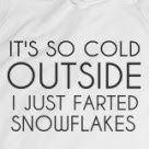 IT'S SO COLD OUTSIDE I JUST FARTED SNOWFLAKES