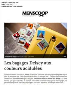 Menscoop (France)  #suitcase  #travel #Delsey