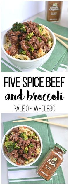 When you are craving chinese food on Whole30 this 5 Spice Beef & Broccoli hits the spot! Simple to throw together, and full of flavor thanks to Simply Organics Five Spice Powder! Paleo// healthy