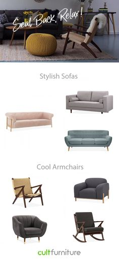 Buy modern & contemporary designer sofas in different colours & material. Our stylish & trendy sofas & couches will fit any living spaces. Couches, Sofas, Funky Sofa, Modern Sofa Designs, Modern Couch, Sofa Styling, Changing Room, Comfortable Sofa, Upholstered Sofa