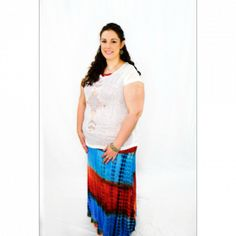 Turquoise Tie Dye Maxi Skirt