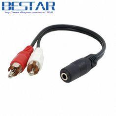 Adaptateur Y Splitter RCA 2male Vers 1 femelle Adaptateur cable envoi rapide