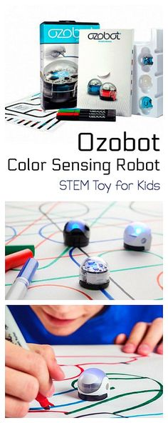 Ozobot Color Sensing Robot: Fun STEM Toy for Kids! Practice coding using markers, paper, and Ozobot! Great gift idea or STEM addition for the classroom! Science Experiments Kids, Science For Kids, Steam Activities, Activities For Kids, Coding For Kids, Robotics, Girl Stuff, Teaching Resources, Curriculum