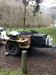 Offroad trailer with barbecue etc