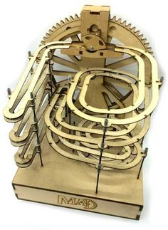 Welcome to MAD Factory, The Creative Side of The MAD Museum. Here you'll find our range of unique, laser-cut marble machine kits, starting from just Laser Cut Mdf, Laser Cutting, Types Of Stairs, Marble Ball, Marble Machine, Wooden Gears, Laser Cutter Ideas, Mechanical Art, Moe's Home Collection
