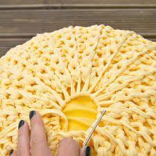 Resultado de imagem para crochet pouf
