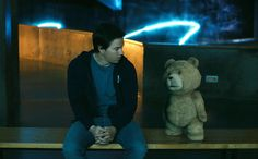 Check out a new, the second movie trailer for Seth Macfarlane's Ted, a hilarious new live action/CG-animated comedy about a teddy bear that comes to life Two Movies, 2 Movie, Great Movies, Ted Bear, Seth Macfarlane, Movie Props, Hilarious, Funny, Movie Trailers