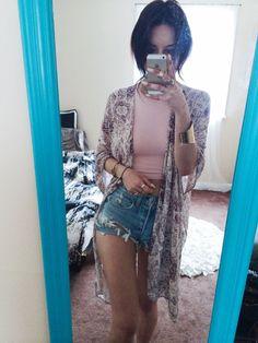 kimono + short