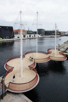 Cirkelbroen Bridge Copenhagen by Olafur Eliasson, completed 2015. Click image for link to full profile and visit the slowottawa.ca boards >> http://www.pinterest.com/slowottawa
