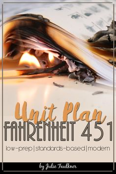 Fahrenheit 451 Unit Plan, Literature Guide, Printable and Digital, Lesson Plans, Teaching Idea, Novel Study