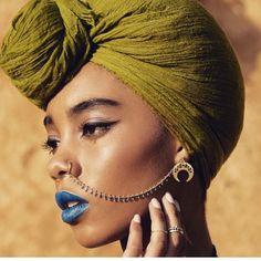 green headwrap, turban, turbante