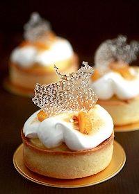 # fancy Desserts Pierre Herme's Meyer Lemon Tart - (Free Recipe below) French Desserts, Just Desserts, Delicious Desserts, Dessert Recipes, Yummy Food, Custard Desserts, Gourmet Desserts, Pastry Recipes, French Food