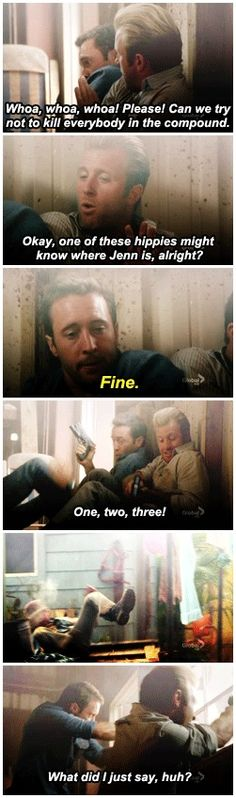 c'mon Danny, he has to carry on the grand tradition of husbands not listening to their wives  hawaii five-0  alex o'loughlin  scott caan  2x02