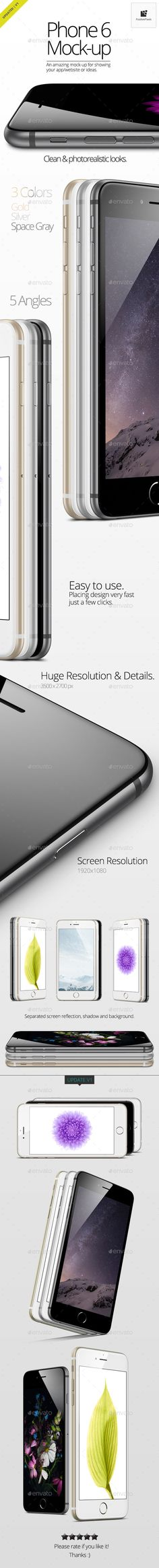 iPhone 6 Mock-Up | #iphone6mockup #iphonemockup #mockups | Download: http://graphicriver.net/item/phone-6-mockup/8998141?ref=ksioks