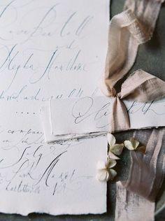 Such delicate calligraphy. Gorgeous. #weddinginvitation #stationary